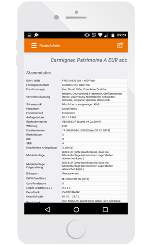 App - Wertpapierinfo
